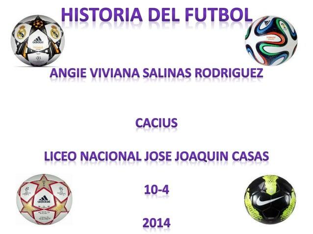 La historia del fútbol, conocido simplemente como fútbol, se considera a partir de 1863, año  de fundación de The Football...