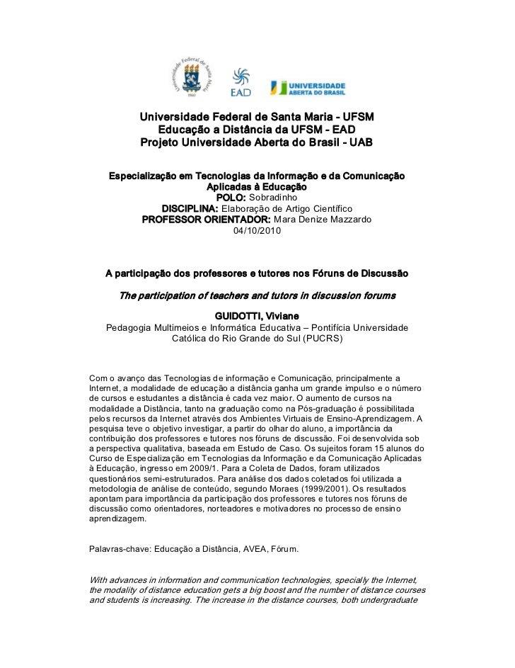 UniversidadeFederaldeSantaMariaUFSM                EducaçãoaDistânciadaUFSMEAD             ProjetoUnivers...