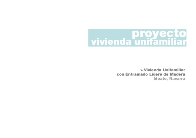 Planos Proyecto B Sico Vivienda Unifamiliar Idoate