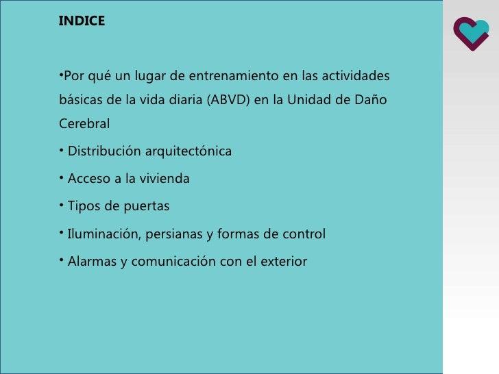 Vivienda adaptada para personas con daño cerebral Slide 2