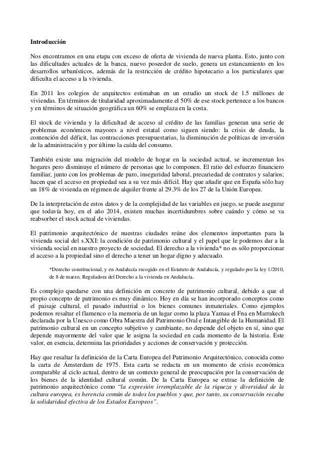 Vivienda social y patrimonio comunicaci n sobre la for Modelo demanda clausula suelo