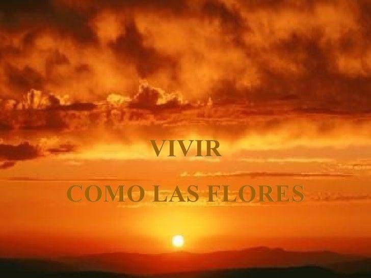 VIVIRCOMO LAS FLORES