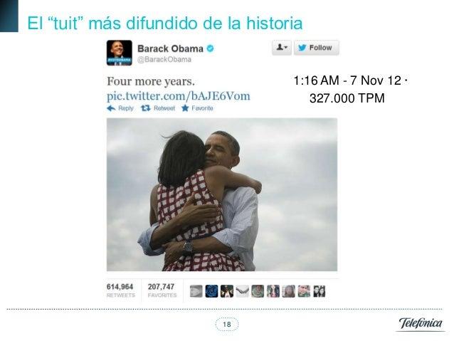 """El """"tuit"""" más difundido de la historia                                    1:16 AM - 7 Nov 12 ·                            ..."""