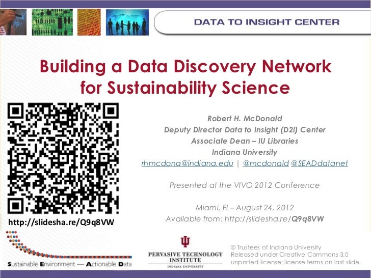 Building a Data Discovery Network            for Sustainability Science                                            Robert ...