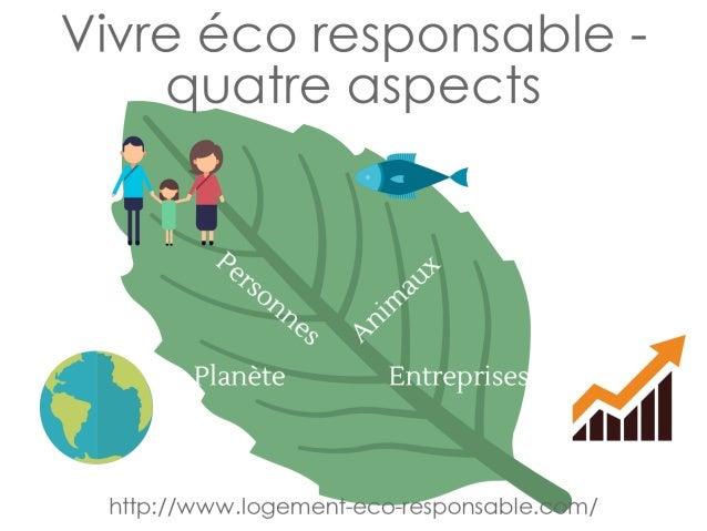 vivre éco responsable - quatre aspects