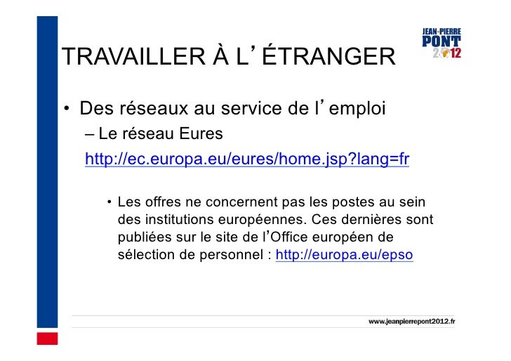 Vivre et travailler l 39 tranger - European personnel selection office epso ...