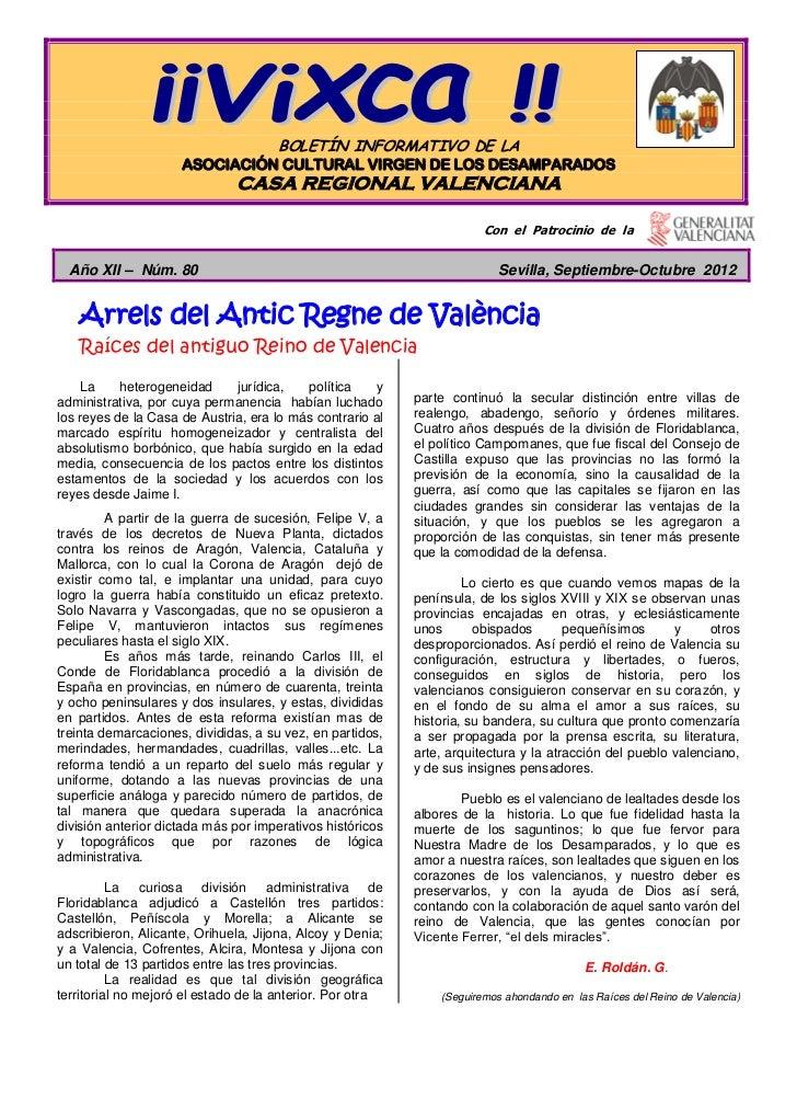 BOLETÍN INFORMATIVO DE LA                     ASOCIACIÓN CULTURAL VIRGEN DE LOS DESAMPARADOS                              ...