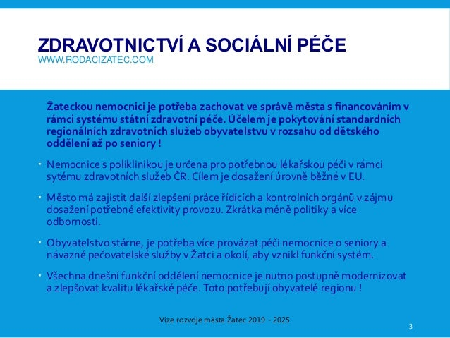 Vize rozvoje města Žatec 2019-2025 Slide 3