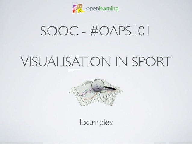 SOOC - #OAPS101VISUALISATION IN SPORT        Examples