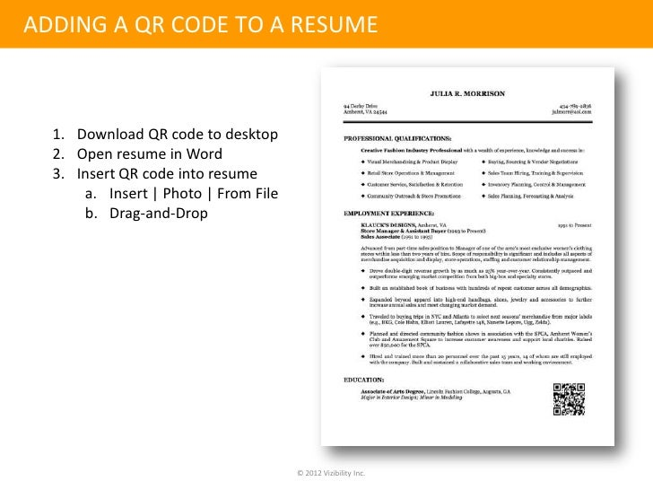 online identity management  u0026 the qr coded resume