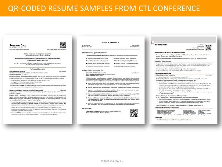 online identity management the qr coded resume