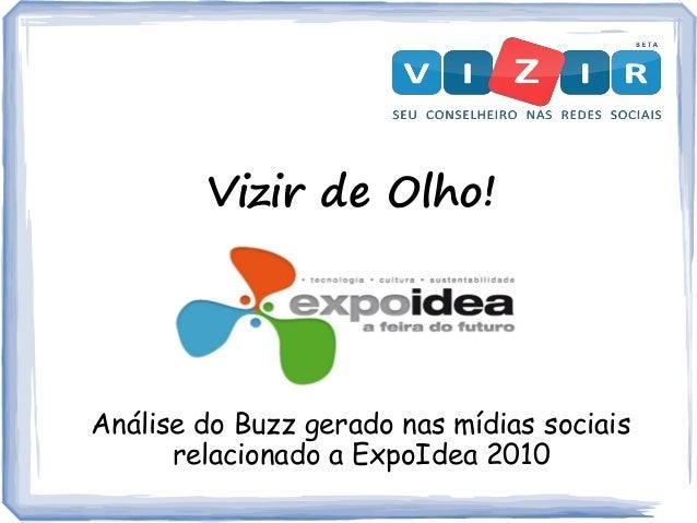 Vizir de Olho! Análise do Buzz gerado nas mídias sociais relacionado a ExpoIdea 2010