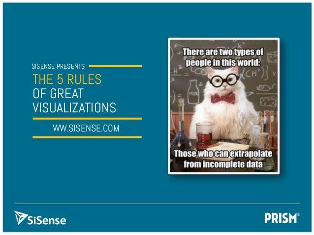 SISENSE PRESENTS THE 5 RULES OF GREAT VISUALIZATION SWW.SISENSE.COM