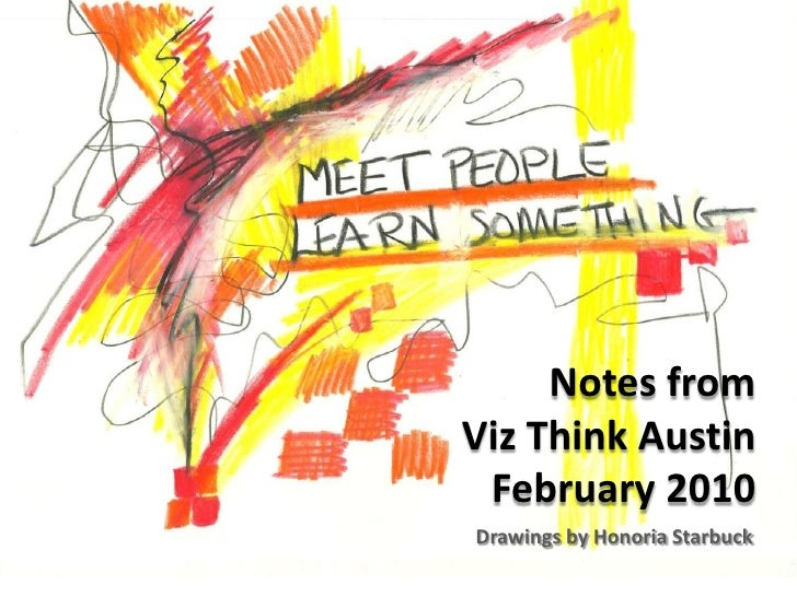 Notes from Viz Think Austin February 2010<br />Drawings by Honoria Starbuck<br />