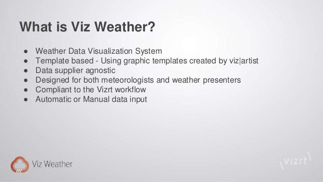 Viz weather product presentation