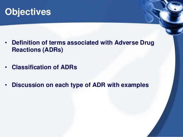 Adverse drug reactions Slide 2