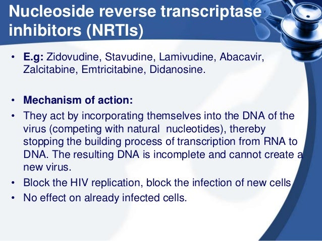 the effects of non nucleoside reverse transcriptase inhibitors on hiv therapy You have free access to this content effects of nucleoside reverse transcriptase inhibitor backbone on the efficacy of first-line boosted highly active antiretroviral therapy based on protease inhibitors: meta-regression analysis of 12 clinical trials in 5168 patients.