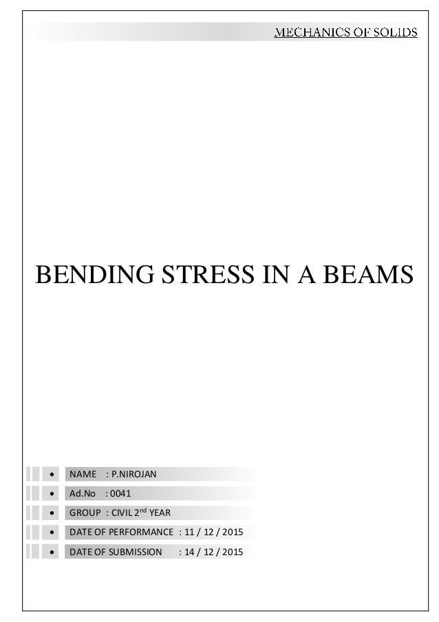 bending stresses in beams pdf