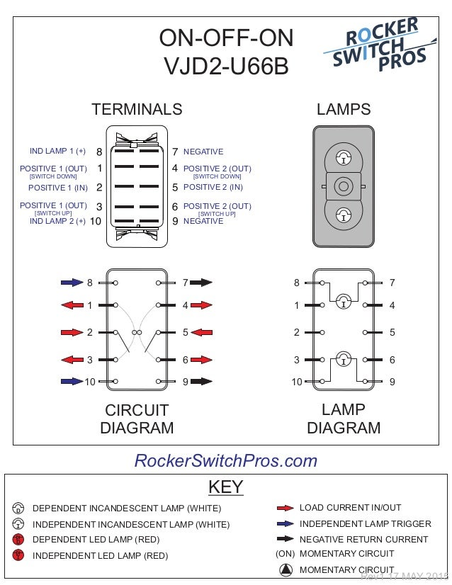 Carling Switches Wiring Diagram : Carling dpdt rocker switch wiring diagram on