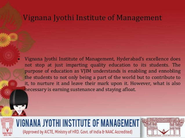 Vjim, hyderabad's students are recruiters' favourite Slide 2