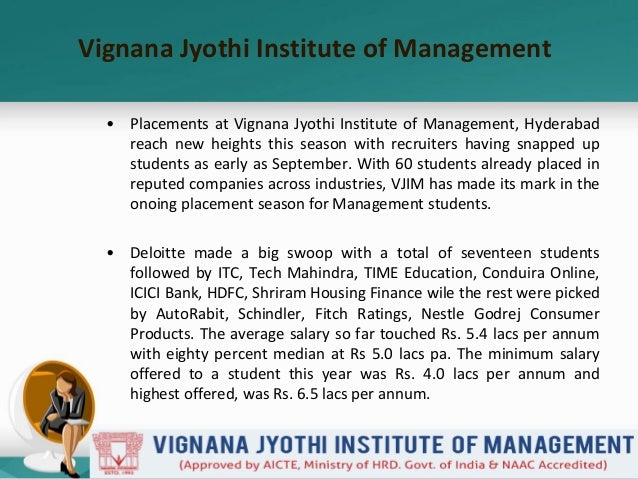 Vjim's ongoing placement for pgdm class 2015  2017 is worth the attention Slide 2