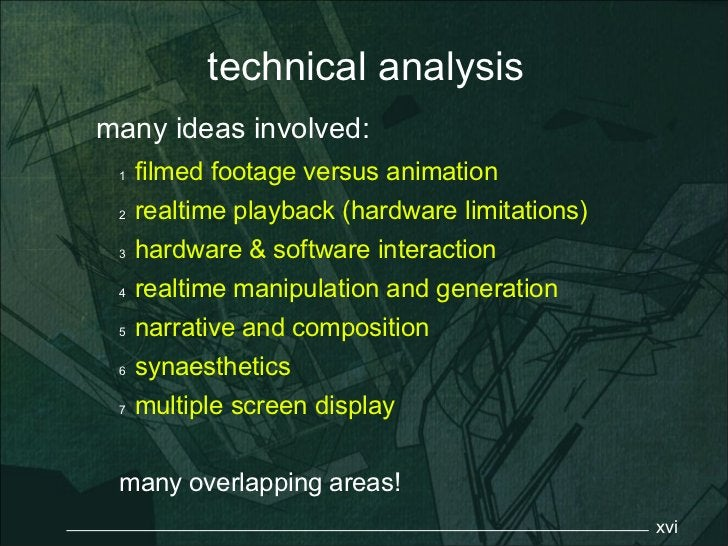 technical analysismany ideas involved: 1   filmed footage versus animation 2   realtime playback (hardware limitations) 3 ...