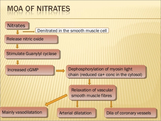Antianginal drugs (VK)