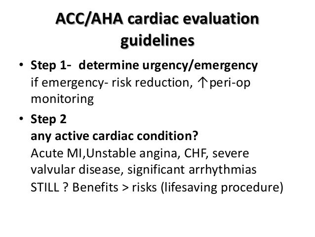 acc aha guidelines noncardiac surgery