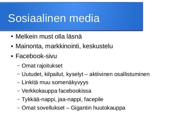 facebook verkkoseura suihin sisään helsinki