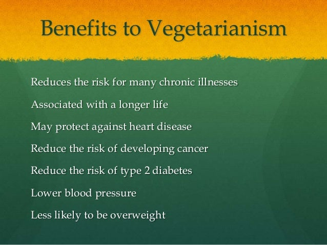 effects of vegetarianism on the body