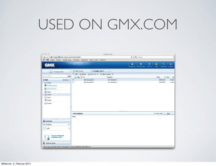 USED ON GMX.COMMittwoch, 2. Februar 2011
