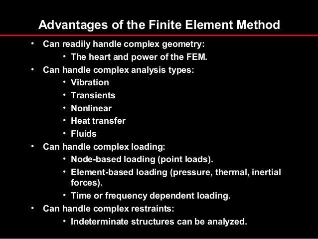 advantages of finite element analysis pdf