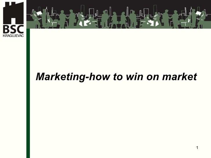 I Marketing-how to win on market