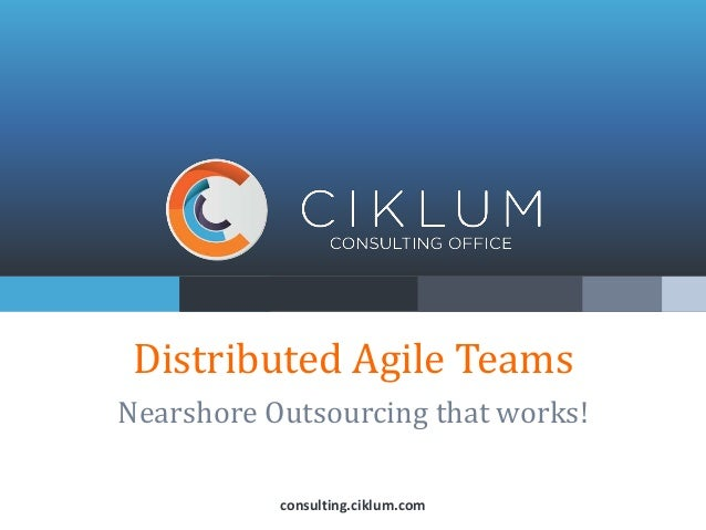 Distributed Agile TeamsNearshore Outsourcing that works!consulting.ciklum.com