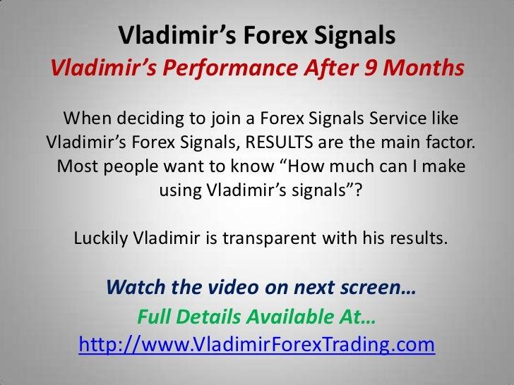 Vladimir forex signals login