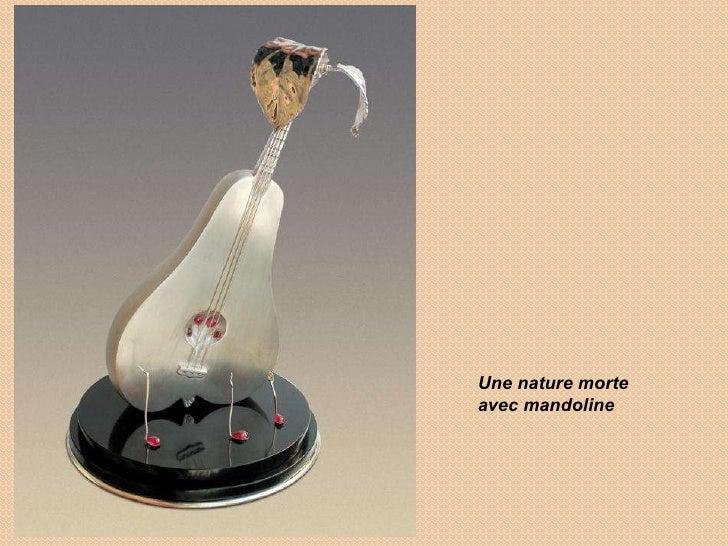 Une nature morte avec mandoline