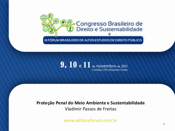 Proteção Penal do Meio Ambiente e Sustentabilidade