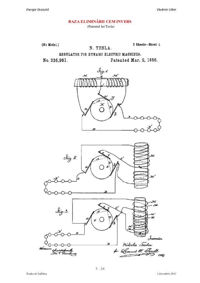 5 - 24Energie Gratuită Vladimir UtkinTradus de SaDAng 1 decembrie 2011BAZA ELIMINĂRII CEM INVERS(Patentul lui Tesla)