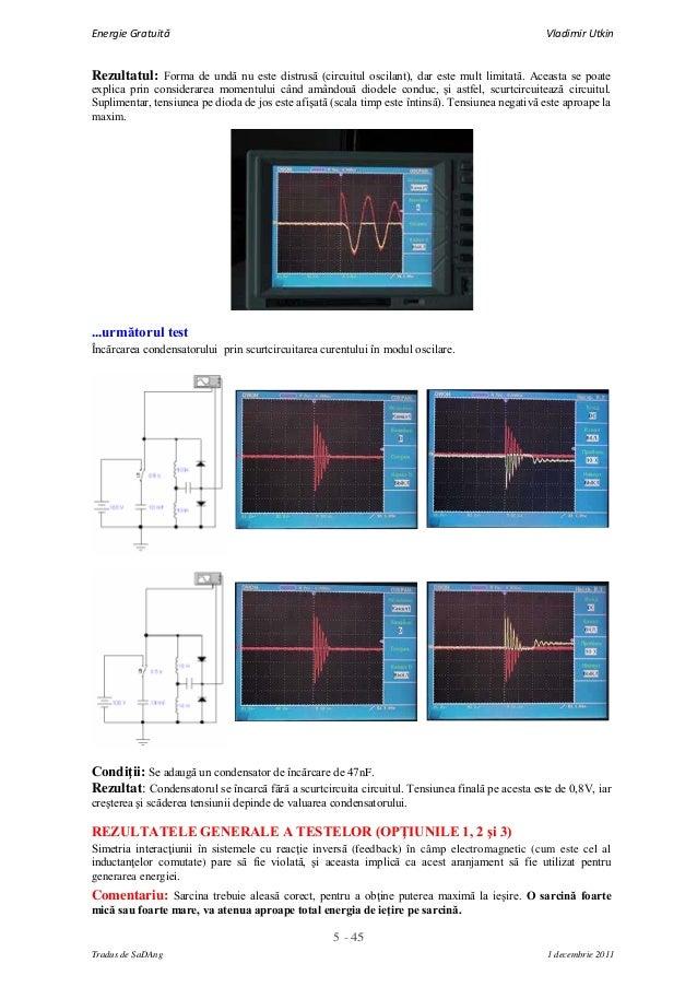5 - 45Energie Gratuită Vladimir UtkinTradus de SaDAng 1 decembrie 2011Rezultatul: Forma de undă nu este distrusă (circuitu...