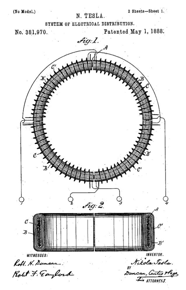 472 INVENTIONS OF NIKOLA TESLA.field nearest the axis, and the coils in the field further from it.Assume the magnets sligh...
