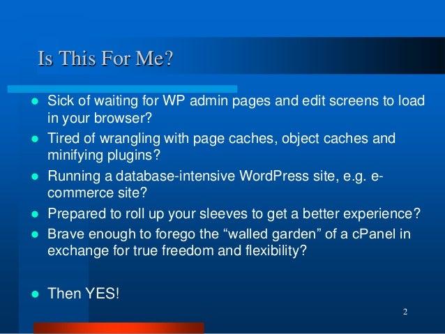 Make WordPress Fly With Virtual Server Hosting  - WordCamp Sydney 2014 Slide 2