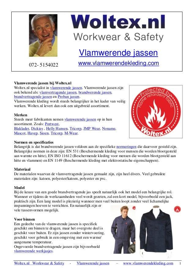 Woltex.nl Workwear & Safety - Vlamwerende jassen – www.vlamwerendekleding.com 1  Vlamwerende jassen bij Woltex.nl  Woltex....