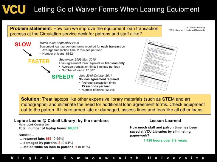 Letting Go of Waiver Forms When Loaning Equipment                                                                         ...