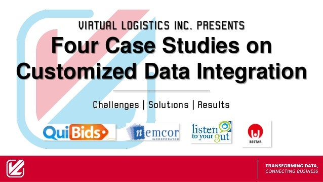 Challenges | Solutions | Results VIRTUAL LOGISTICS INC. PRESENTS Four Case Studies on Customized Data Integration