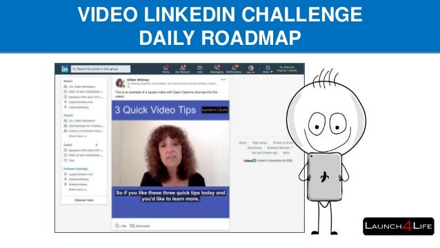 VIDEO LINKEDIN CHALLENGE DAILY ROADMAP