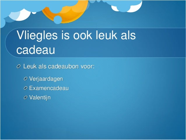 Vliegles Lelystad Cadeau