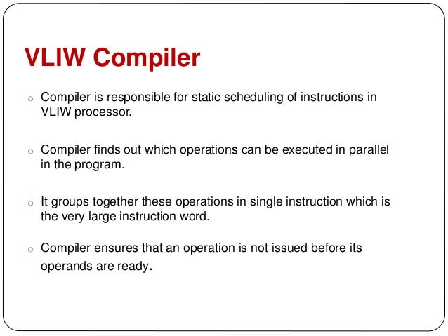 Vliw Processors