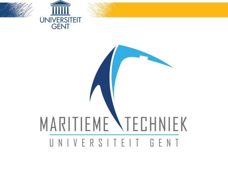 UGent – Afdeling Maritieme Techniek