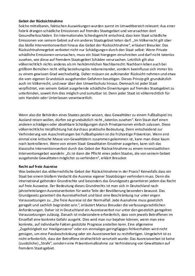 Völkerrechtliche Untersuchung zu Maßnahmen gegen Hooligangewalt Slide 3