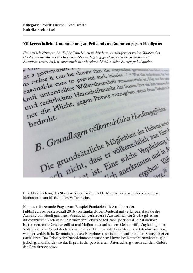 Kategorie: Politik | Recht | Gesellschaft Rubrik: Fachartikel  Völkerrechtliche Untersuchung zu Präventivmaßnahmen gegen H...